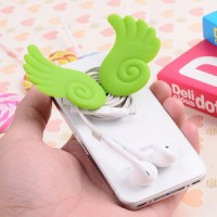 Angel Wing Silicone Stand Earphone Winder