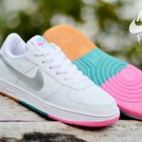 Sepatu Nike Force One Low Putih Silver