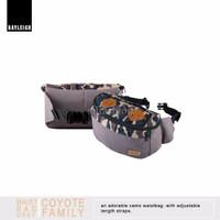 Rayleigh COYOTE WAISTBAG GREY / Tas Pinggang Vintage / Hip Bag Mini