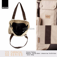 Rayleigh CARACAL TOTEBAG BEIGE / Tas Jinjing Canvas / Free Pouch