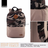 Rayleigh COYOTE CAMO MEDIUM BACKPACK BEIGE / Tas Ransel Canvas Loreng