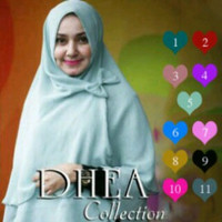 TERBATAS Hijab / Jilbab Syar'i Khimar Dhea Pita TERMURAH