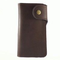 BAGNEZIA OX Pull Up Brown Leather Dot Dompet Ke