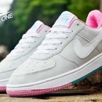 Sepatu Nike Force One Low Abu Putih
