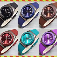 Swatch Karet Simple Diamond | Jam Tangan Wanita KW Super Fashion
