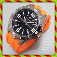 Jam Karet Tommy Hilfiger Orange | Jam Sport Murah Rubber Casio