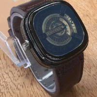 LIMETED PROMO Jam Tangan Pria / Cowok Seven Friday Seri M Leather Brow