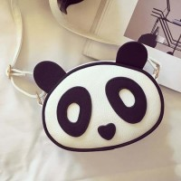 TF1453 Tas Korea Best Quality Leather Selempang Panda Lucu (Putih)