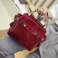 TF1400 Tas Korea Selempang Best Quality Leather (Merah)