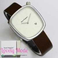 Jam Tangan Hush Puppies Date Dark Brown Leather-Silver