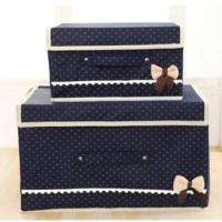 2 In 1 Multifunction Box Storage Box 555 Warna Warna Navy