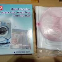 Laundry Bag 5 Set Wash Bag / Laundry Bag Kassa Pakaian Untuk Mesin Cuci