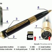 Spy Camera / Kamera Pen BPR 6 Warna Hitam/Emas/Silver