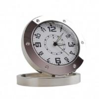 Kamera Pengintai DVR520 Spy Jam Meja Silver