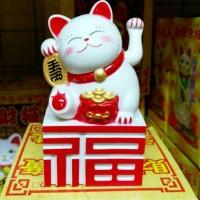 pajangan Lucky Cat /hiasan kucing /pajangan Mobil /pajangan toko /Gift