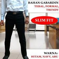 Jual Celana Bahan Kerja Pria Slim Fit Tebal Trendy Keren Murah