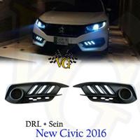 DRL Foglamp Led + Sein khusus All New Civic Turbo 2016 PnP