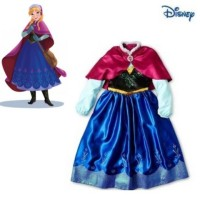 Jual Dress Frozen Anna Satin Jubah1 Murah