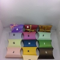 PILLOW BOX/KOTAK KADO ANEKA WARNA, ukuran 11,5 cm x 8,5 c x 3 cm