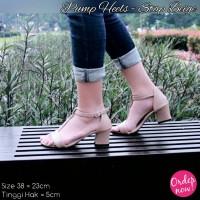 Sepatu Wanita Sendal Wanita (Pump Heels - Strap Beige) Berkualitas