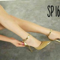 High Heels Hells Sepatu Heel Gelang Gold SP 163 Limited