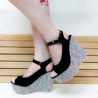 Sepatu WanitaE Sandal Wedges Wanita Tinggi 12cm SDW70 Limited