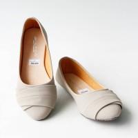Sepatu Wanita Murah - Flatshoes Laser Cream NFZ-42 Diskon
