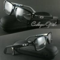 Frame Kacamata Oakley FatCat Black Logo Silver