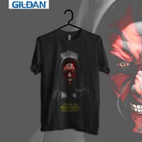Darth Maul Kaos Starwars Printed in Gildan Shirt