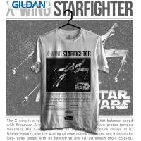 X-wing Starfighter Kaos Starwars Printed in Gildan Shirt