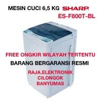 Mesin Cuci Otomatis SHARP ES-F800T-BL 1 Tabung, Mesin Laundry Pencuci