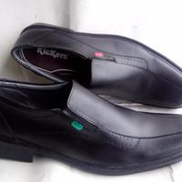 sepatu kerja kickers pantofel casual slop formal hitam promo bukalapak