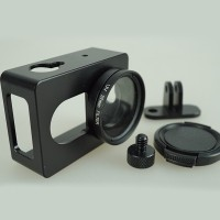 Aluminium Protective Case For Xiaomi Yi With CNC Screw & UV Filter