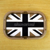 JUAL Anti Slip Mat / Tatakan Anti Slip Union Jack Hitam (Black Jack) M