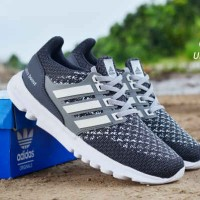 Sepatu Adidas UltraBoost Man Abu Putih