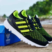 Sepatu Adidas UltraBoost Man Hitam Hijau