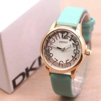 Jam Tangan Wanita / Cewek Merk DKNY Kulit Formal Elegant