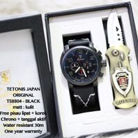 Aneka Jam Murah Jam Tangan Pria Original Tetonis Fullset Leather Kulit
