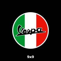 Stiker Vespa Italia (Cutting Sticker) ukuran 9 cm