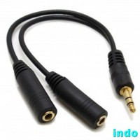 3.5mm To 2 X 3.5mm Audio Splitter For IPhone 4 & 4S - Black