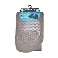 Avatar 2 Baris Tipis Pisah Karpet Mobil - Beige Cream