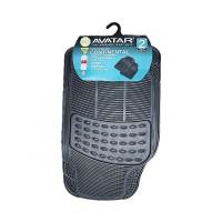 Avatar 2 Baris Tebal Pisah Karpet Mobil - Black