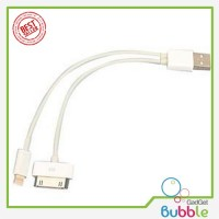 Dual USB Charging 30 Pin Apple And Micro USB Cable