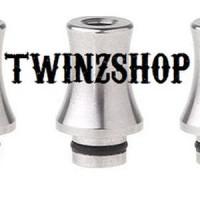 Drip Tip 510 SS silver (stingray ver) untuk Vaporizer T Unik