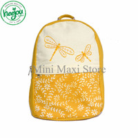 NEW Tas Ransel Kanvas Heejou Dragon Yellow / Ransel Kuliah / Ransel Ku