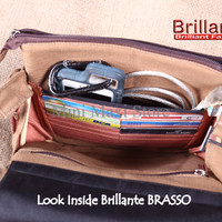 NEW TAS SELEMPANG BRILLANTE BRASSO BROWN