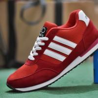 Sepatu Casual Adidas Neo City Racer Merah Putih / Sport Kets Pria
