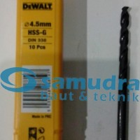 DEWALT 4.5 Mm Mata Bor Besi HSS-G Drill 4,5mm