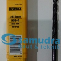 DEWALT 5.5 Mm Mata Bor Besi HSS-G Drill 5,5mm