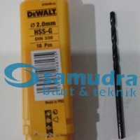 DEWALT 2 Mm Mata Bor Besi HSS-G Drill 2mm